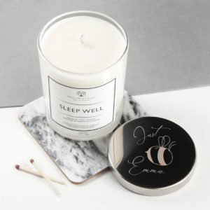 Bee You Candle With Silver Lid