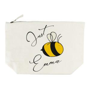 Bee You Cream Wash Bag