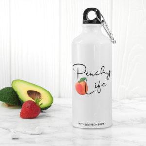 Peachy Life White Water Bottle