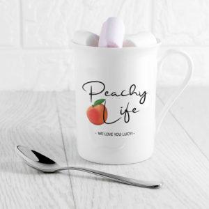 Peachy Life Bone China Mug