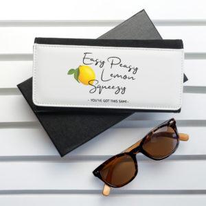 Easy Peasy Lemon Squeezy Black Wallet