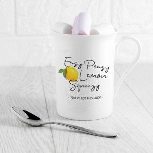 Easy Peasy Lemon Squeezy Bone China Mug