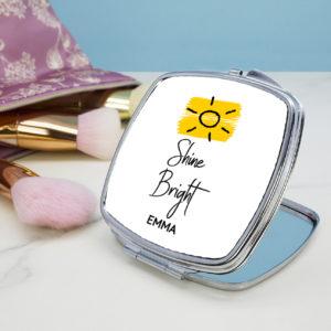 Shine Bright Square Compact Mirror