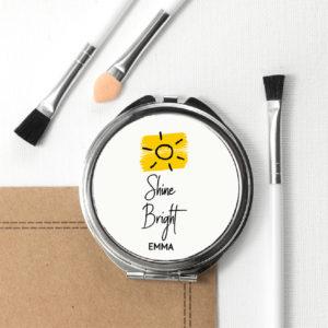 Shine Bright Round Compact Mirror
