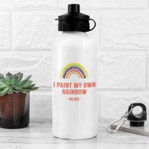 My Own Rainbow White Water Bottle