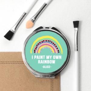 My Own Rainbow Round Compact Mirror