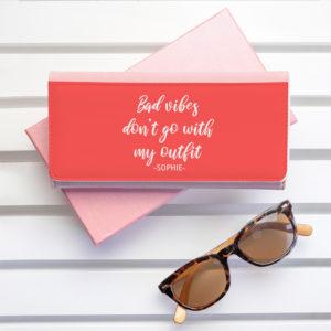 No Bad Vibes Pink Wallet