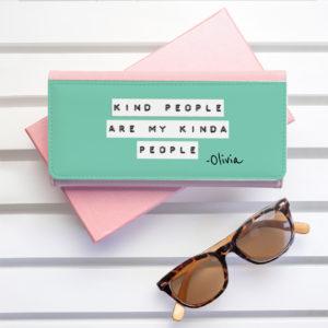 Kind People (Green) Pink Wallet