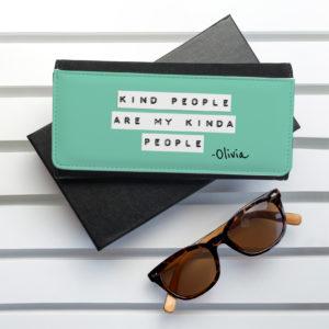 Kind People (Green) Black Wallet