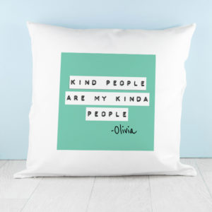 Kind People (Green) Cushion Cover