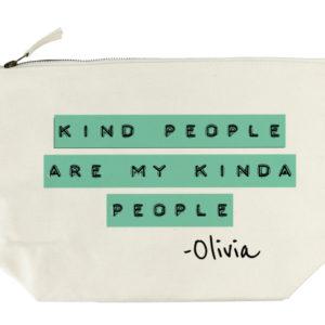 Kind People (Green) Wash Bag