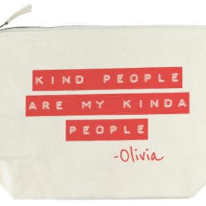 Kind People (Red) Wash Bag