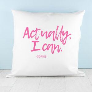 Actually I Can Handwritten Cushion Cover