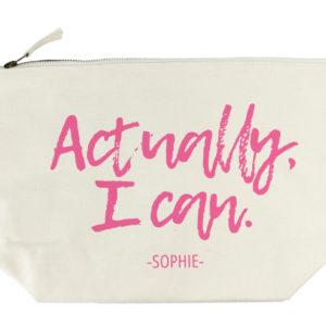 Actually I Can Handwritten Wash Bag