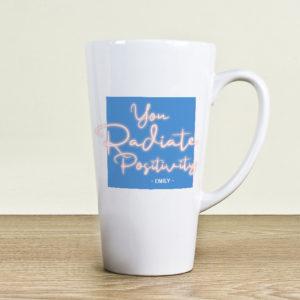 Radiate Positivity Latte Mug