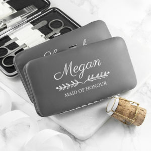 Personalised Bridal Party Manicure Set - Grey