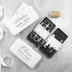 Personalised Bridal Party Manicure Set - White