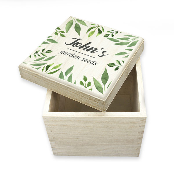 Personalised Leafy Green Seeds Box
