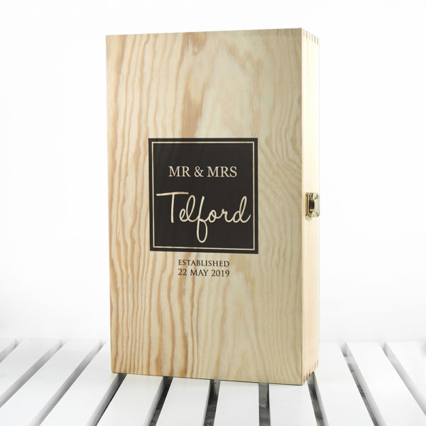 Mr & Mrs Couple - Double Wine Box