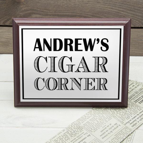 Personalised Art Deco Cigar Corner Plaque