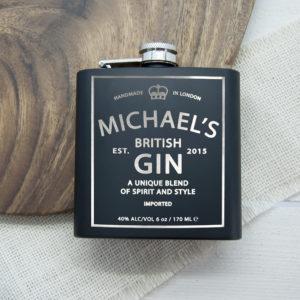 Personalised Gin Vintage Hip Flask