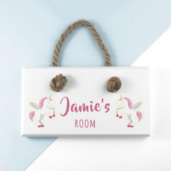 Personalised Baby Unicorn Door Sign