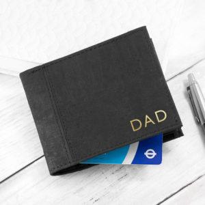 Personalised Black Vegan Leather Cork Wallet