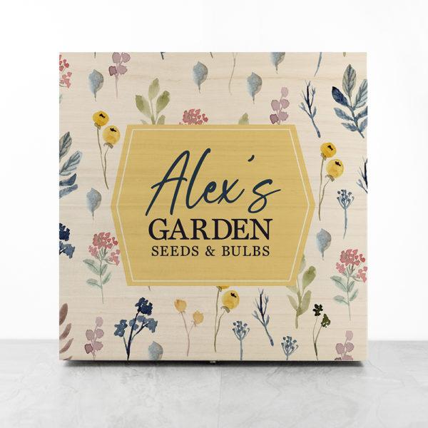 Personalised Botanical Garden Accessories Box