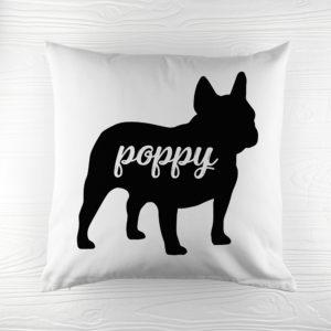 Personalised Bulldog Silhouette Cushion Cover