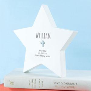 Personalised Christening Star Keepsake