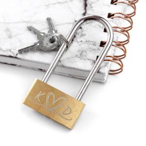 Personalised Couples' Padlock