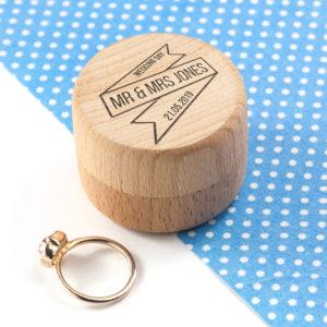 Personalised Couple's Wedding Ring Box
