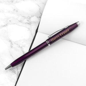 Personalised Cross Century II Pen in Plum
