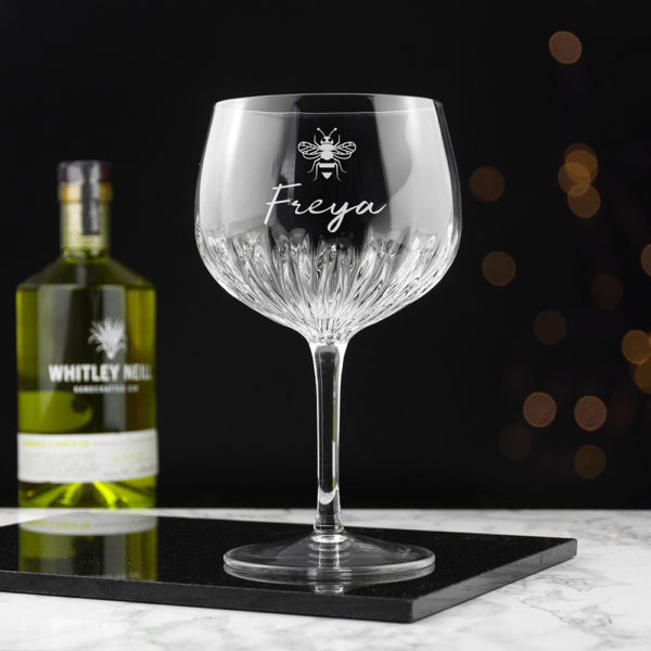 Personalised Crystal Icon Gin Goblet