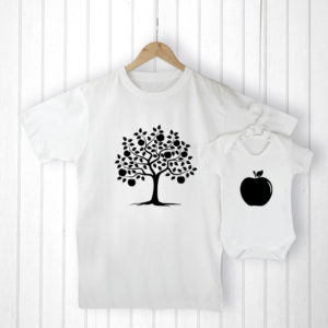 Personalised Daddy and Me Apple Set