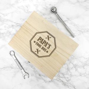 Personalised Dad's Emblem Tool Box