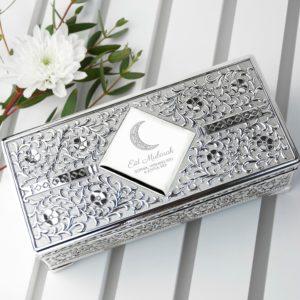 Personalised Eid Mubarak Jewellery Trinket Box