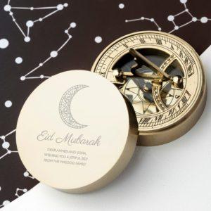 Personalised Eid Mubarak Sundial Compass