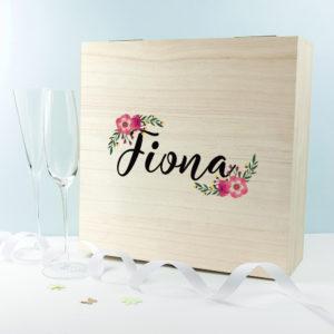 Personalised Floral Bridesmaid Box