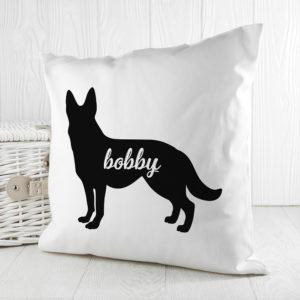 Personalised German Shepherd Silhouette Cushion Cover