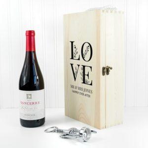 Personalised LOVE Double Wine Box