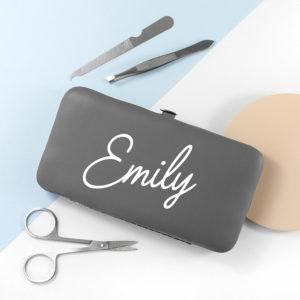 Personalised Manicure Set - Grey