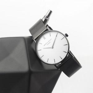 Personalised Men's Metallic Charcoal Grey Watch