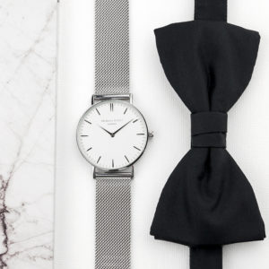 Personalised Men's Metallic Silver Watch