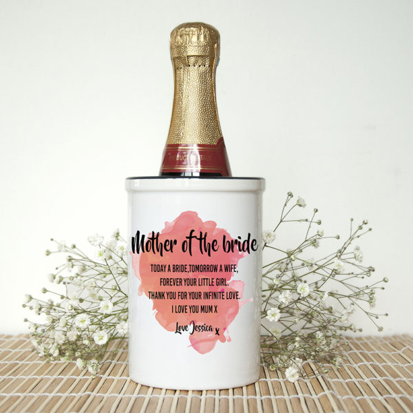 Personalised Mother of the Bride Miniature Champagne Bucket
