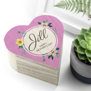 Personalised Mother's Day Heart Trinket Box
