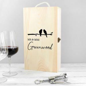 Personalised Mr & Mrs Double Wine Box