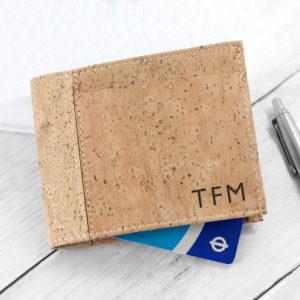 Personalised Natural Vegan Leather Cork Wallet