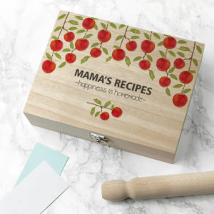 Personalised Orchard Recipe Box