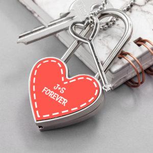 Personalised Parisienne Heart Padlock